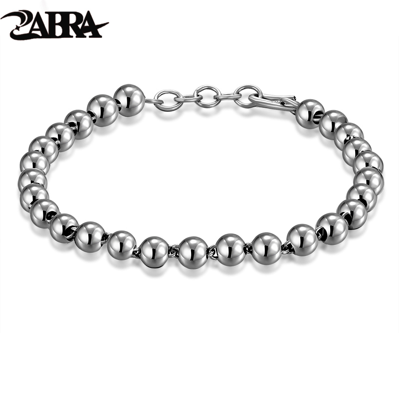 ZABRA 925 Sterling Silver Love Beads Buddha Bracelet for Women Charm Handmade Thai Silver Vintage Simple Bracelets Women Jewelry 925 sterling silver expandable bracelet for women vintage lotus charm flowers engraved bracelets