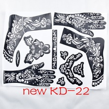1pc new KD22 Tattoo Template hands/feet henna tattoo stencils for airbrushing professional mehndi new Body Painting Kit supplies