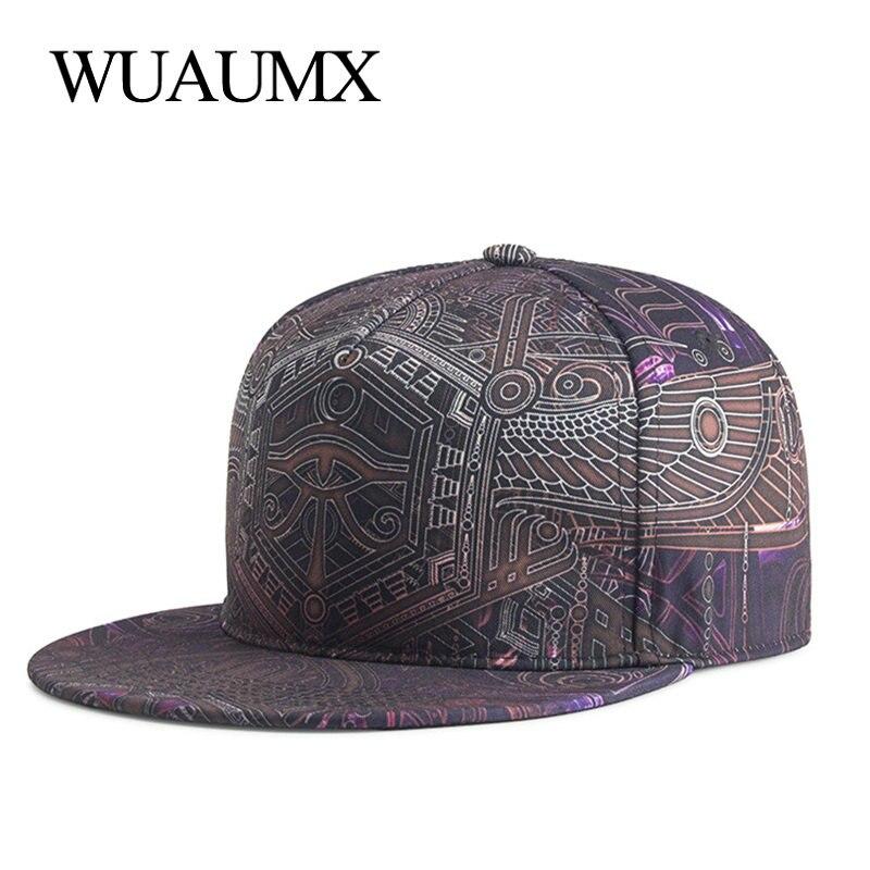 Wuaumx Fashion Summer   Baseball     Cap   For Men Women Hip Hop Hat Sport Skateboard Flat peaked Hat Bone Snapback   Caps   Casquette homme