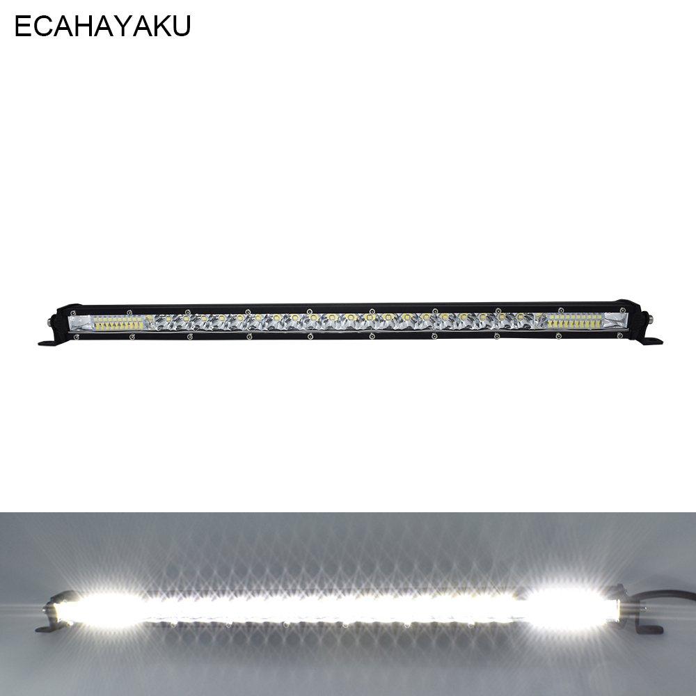 1pcs ECAHAYAKU 21INCH SINGLE ROW LED LIGHT BAR 120W  IP67 WATERPROOF SHOCKPROOF For Tractor Boat OffRoad SUV Trucks ATV 12V 24V