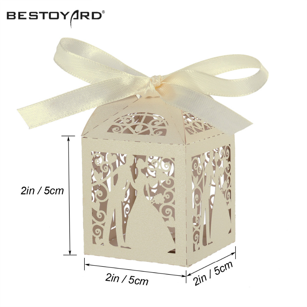 Couple Design Luxury Lase Cut Wedding Sweets DIY Candy Gift Favour ...
