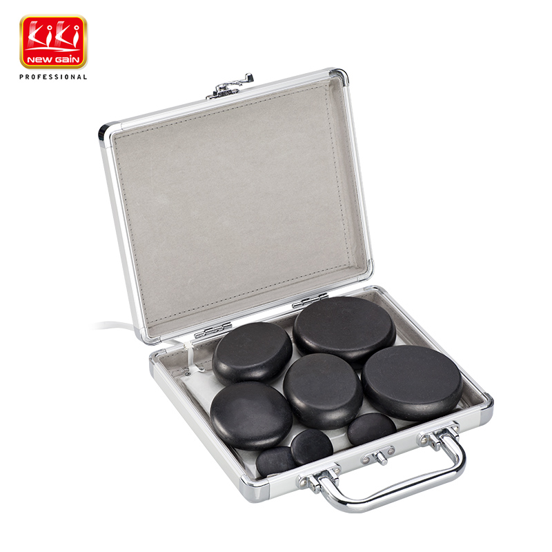 KIKI newgain Mini Hot Stone Massage Set SPA Producs.CE ROHS Spa equipment. patented product massage stone heater