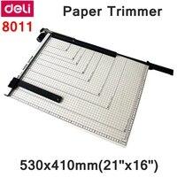 [ReadStar] Deli 8011 ручной триммер для бумаги 530x410 мм (21 x 16) Большой триммер для бумаги с регулируемым размером резки
