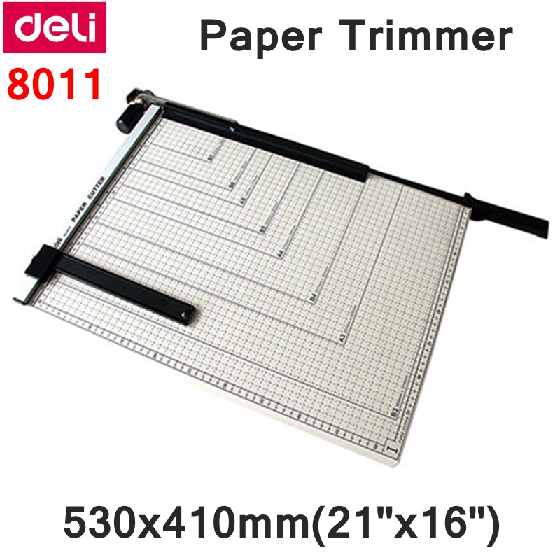 "[ReadStar]Deli 8011 Manual paper trimmer 530x410mm(21""x16"") large paper trimmer with scaler Cut size adjustable