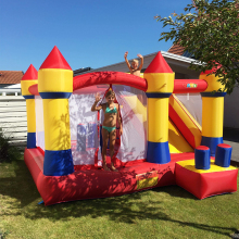 лучшая цена Bounce house inflatable bouncy castle combo slide jump moonwalk inflatable castle