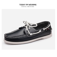 2019 designer men's shoes Hand Sewing Slip-On Mens Loafers Casual Driving Moccasins  Men Shoes Genuine Leather Men Boat Shoes 45 2