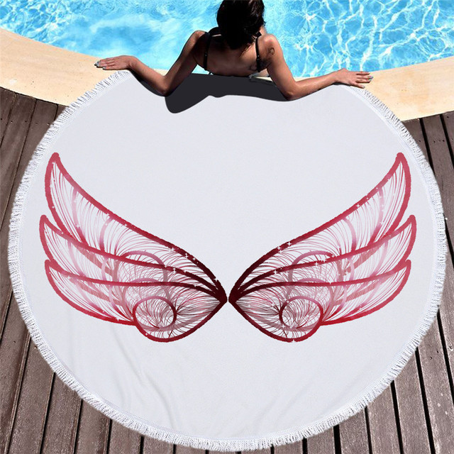 2018 Summer cool printed Beauty Women Beach Towel Butterfly 3D white black Wings Scarves Wrap cushion Cloak Cape Shawl Cover