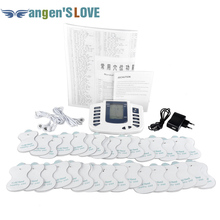 JR309 Care Health Electric Muscle Stimulator Massageador Pads Tens Acupuncture Therapy Machine Massager Slimming Body 4 unids