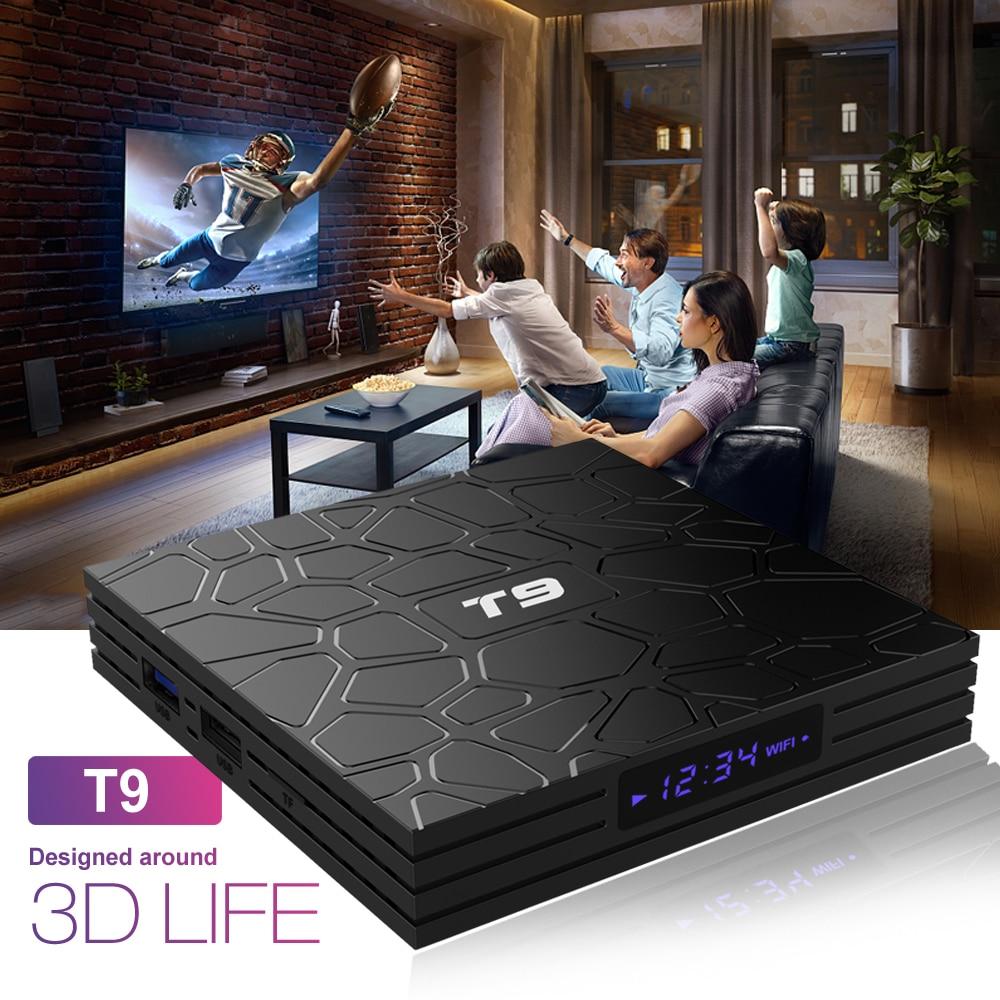 Android 8,1 VONTAR T9 TV BOX 4 GB 64 GB RK3328 Quad Core USB3.0 H.265 HEVC 1080 p Wifi 5 GHz BT4.0 Youtube Set Top Box media player - 3