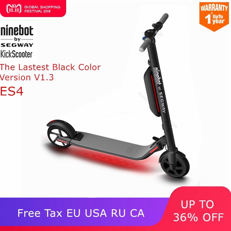 Ninebot KickScooter ES4/ES2 Smart Electric Scooter foldable lightweight board hoverboard skateboard V1.3 Black Color Version цена