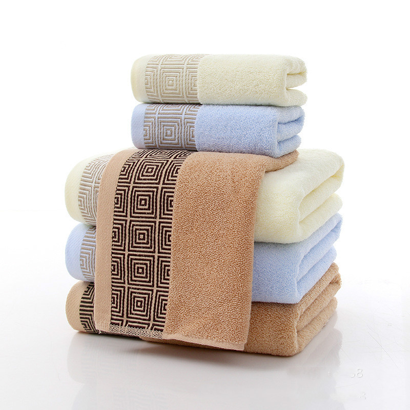 Towels with 74x34cm and 140x70cm 100% Cotton Bath Towel Face Towel for babychildrenadult beach Spa toweltowels with 3 color (6)