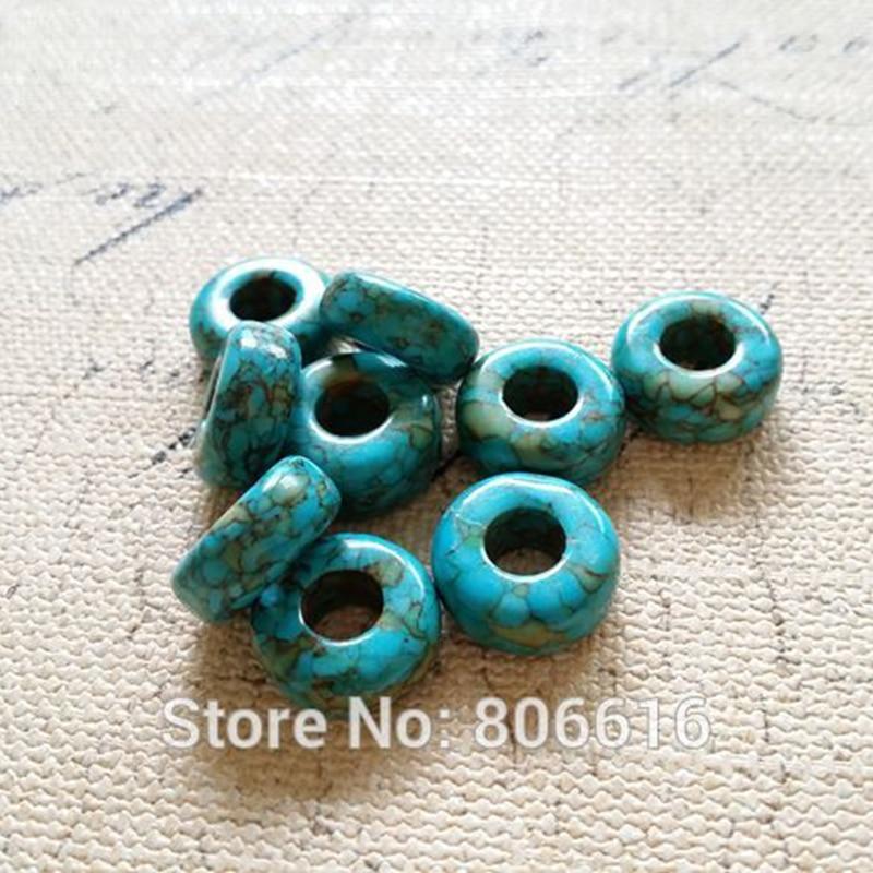 JJ 15 turquoise en bois 17 mm x 13 mm Riz Ovale Perles