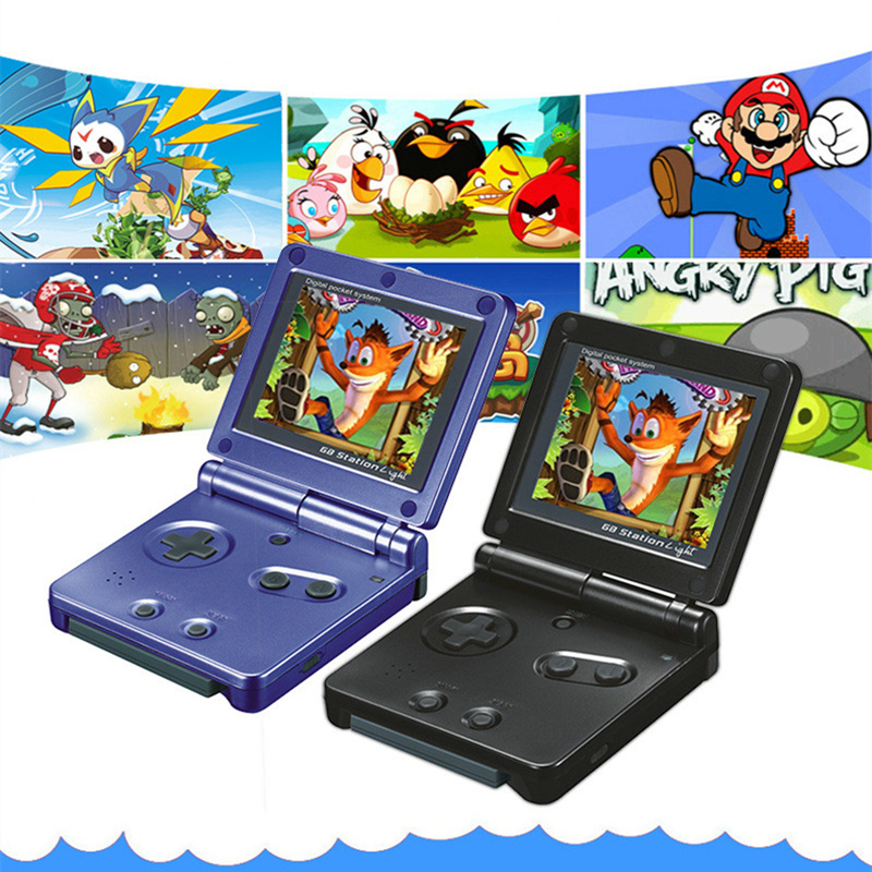 Retro Portable Mini Handheld Game Console 8-Bit 2.4 Inch Color LCD Kids Color Game Player Built-in 99 games