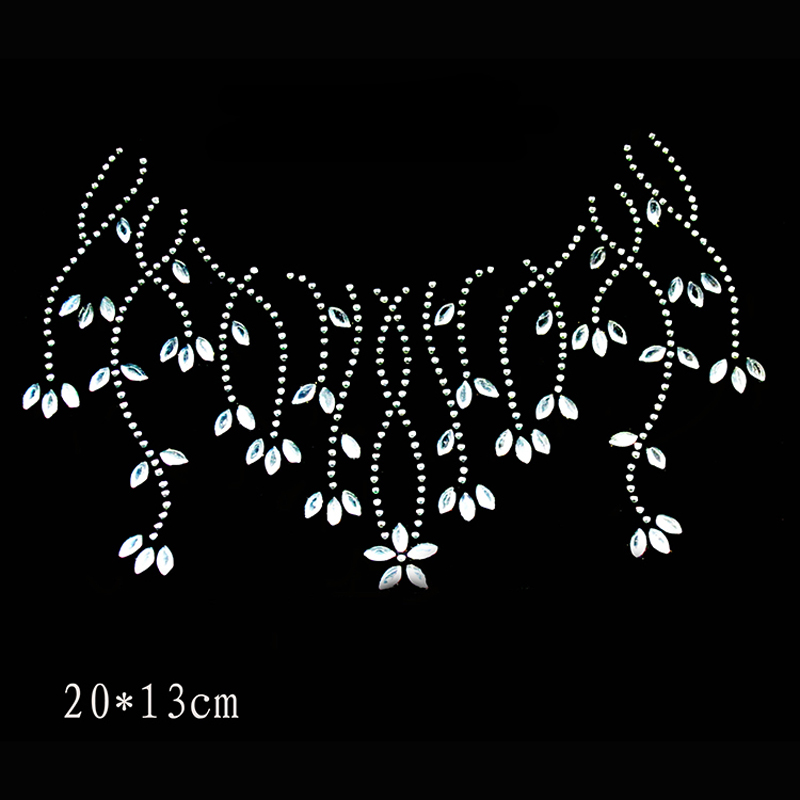Neckline Collar Crystal Stone Hot Fix Rhinestone Transfer Designs Strass rhinestone  iron on motifs patch in patches T06-in Patches from Home   Garden on ... 3e272fda8bbc