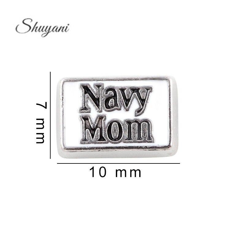 23632649b04 7*10mm aleación metal carta Marina mamá flotante Amuletos para la vida de  memoria flotante Locket