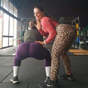 Image 3 - Женские леопардовые леггинсы, спортивные леггинсы с эффектом пуш ап и высокой талией из эластичного материала, 3 расцветки, спортивная одежда