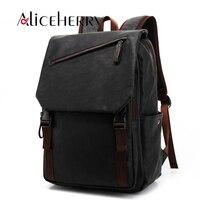 New 2018 Backpack Laptop Men Pu Leather Fashion Vintage Travel Men Bag for Teenagers shoulder backpack