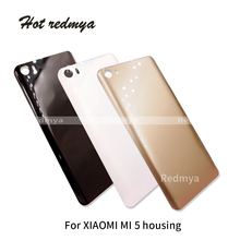 Battery Back Cover For Xiaomi Mi5 Mi 5 M5 Plastic Door Rear Housing Replacement mi with logo