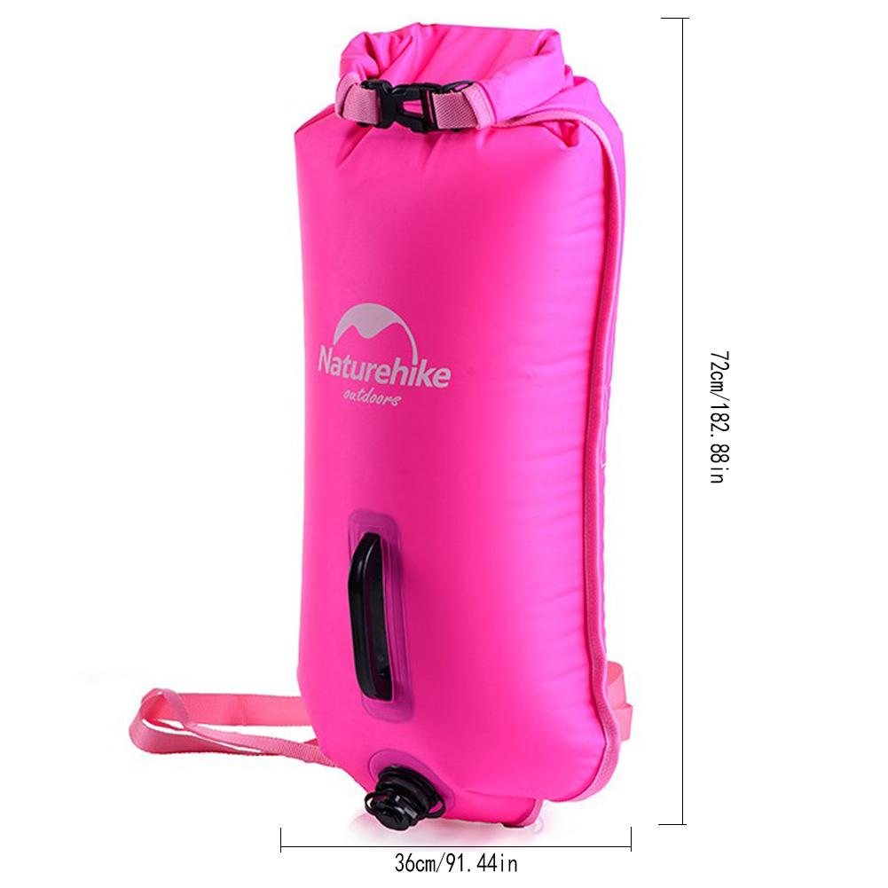 Inflatable Swimming Flotation Bag Life Buoy Pool Floaties Dry Waterproof Bag For Swimming Drifting With Double Airbag Valve 1PC