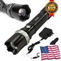 Grau militar Tático SWAT Da Polícia Heavy Duty 3 W LED Lanterna Recarregável