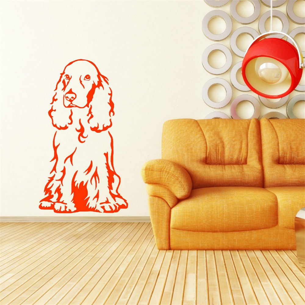 New Fish Seabed Nemo Wall Sticker Cartoon Wall Sticker Removable Vinyl Nursery Kids Room Decals Cocker Spaniel Dog Sitting
