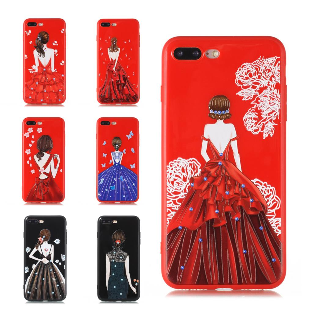 New Cute Printing Cool TPU Cover Case For iPhone 8 7 6 6S Plus X 10 Fashion Girls Back Soft Silicone TPU Phone Cover Cases