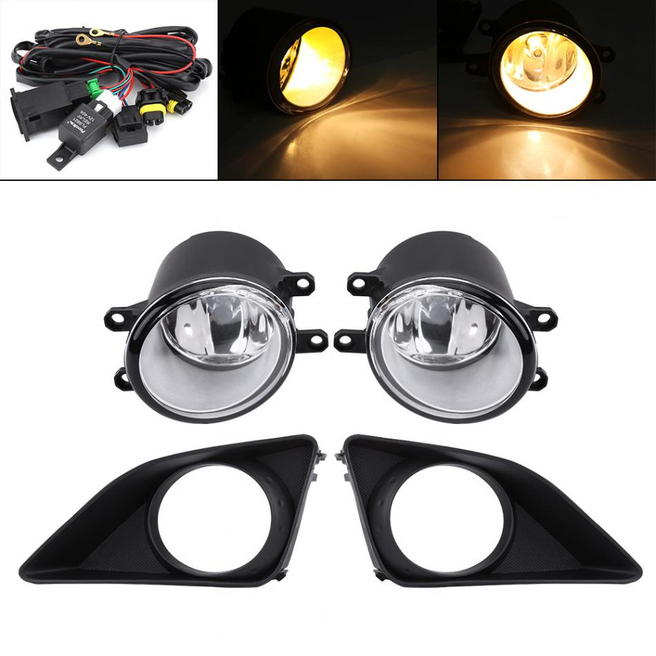 Car Front Bumper Foglight Grille Fog Light Lamp Set for Toyota Corolla 2006-2008 hot one pair protective front left right bumper fog light lamp grille covers for a udi a8 s8 q uattro d3 2006 2007 2008
