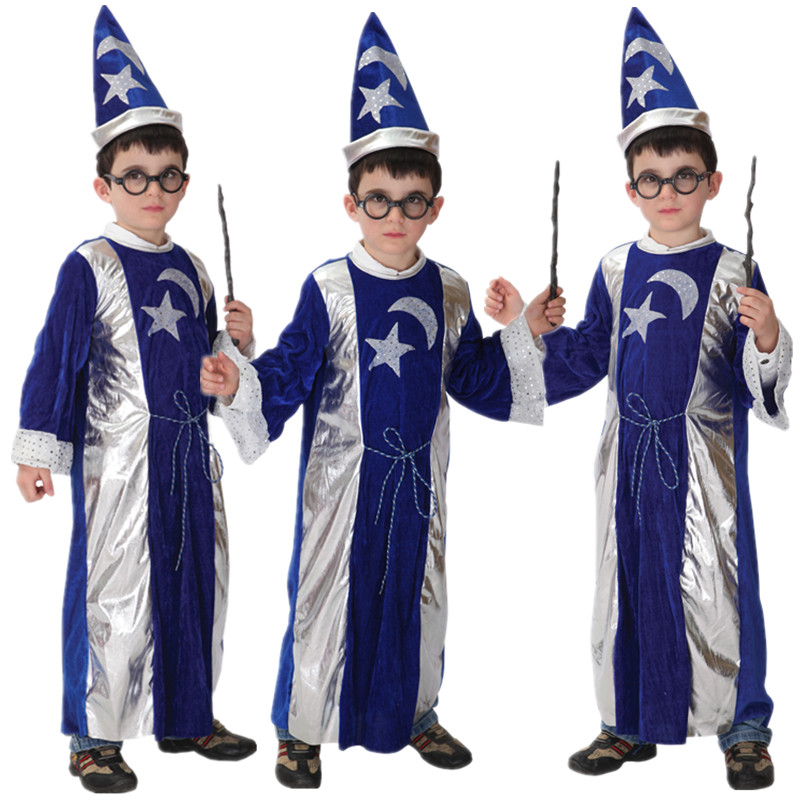 Harry Kids Wizard Costume Halloween Christmas Carnival Masquerade Fancy Dress Magician Potter Children Boys Girl Cosplay Clothes