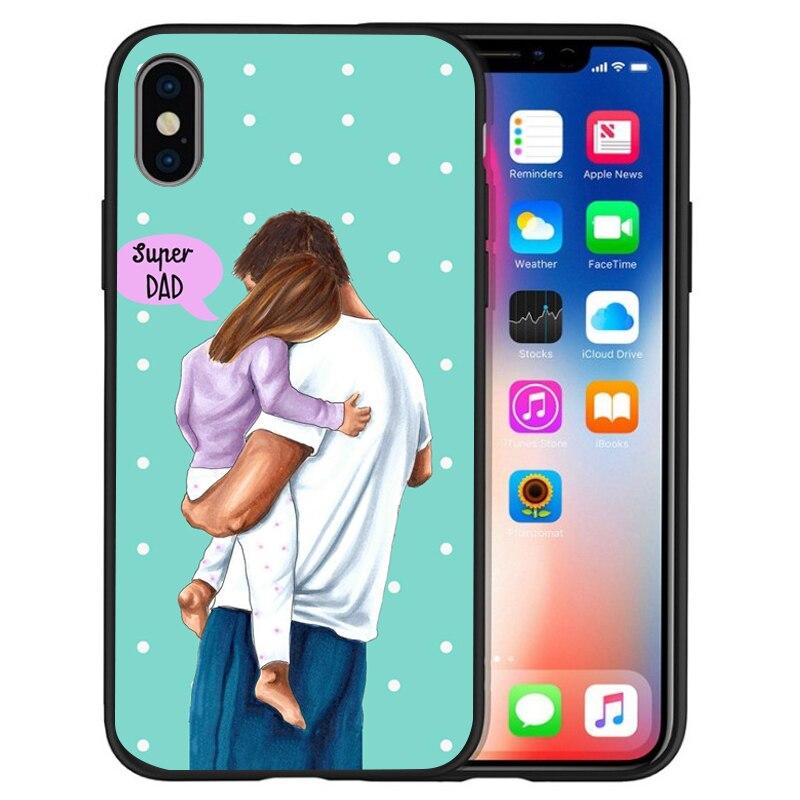 Супер I Love Mama мышь папа мама мальчик детский чехол для чехла iphone 8 7 X XS Max XR 6 7 8 плюс 5S SE мягкий чехол Etui - Цвет: 16