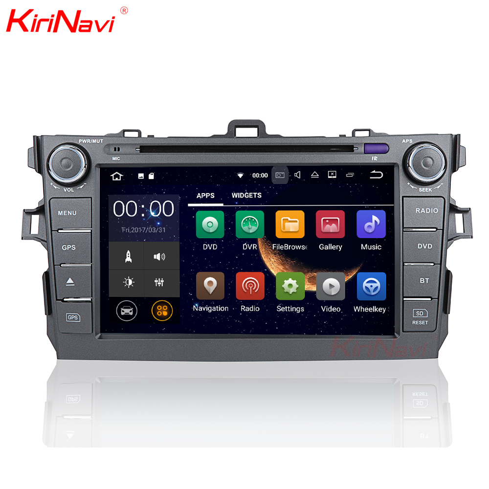 KiriNavi WC-TC9006 9 inches Andriod 7.1 multimedia system for Toyota Corolla car stereo 2007 - 2011 touch screen with WiFi BT