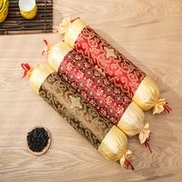 Bamboo Charcoal Neck Pillow 43*11cm Body Sleeping Orthopedic Pillow Massage Particles Pillows Neck Fatigue Travesseiro Yastik