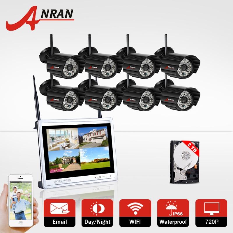 Plug and Play 8CH NVR 720P Wireless CCTV System HD IR Outdoor Night Vision Security IP Camera WIFI Home Vdeio Surveillance Kit