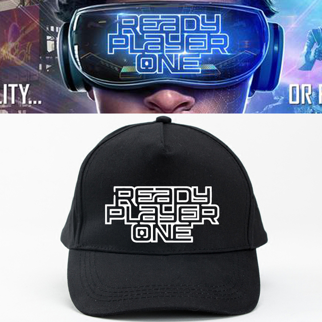 2018 Science Fiction Movie Ready Player One Cosplay Hats Black Strapback Unisex Adjustable Baseball Caps