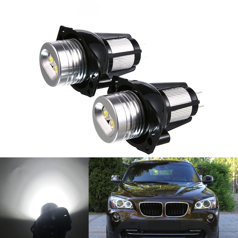 2pcs 10W <font><b>LED</b></font> Canbus Car Marker Angel Eyes Light Bulb For <font><b>BMW</b></font> <font><b>E90</b></font> E91 Dedicated Decoration Fog Light <font><b>Headlight</b></font> Lamp White 12V image