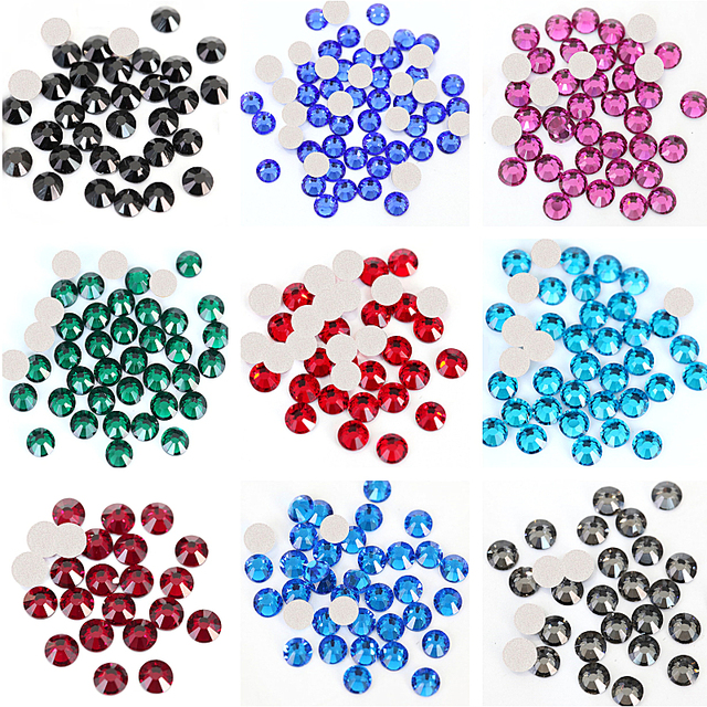 2cb316ed39 2028 SS3 SS34 Multicolor Glass Non Hot Dix Rhineston Crystal Glass Strass  Non Hotfix Rhinestones for Nails Art Decoration B3398-in Rhinestones from  ...