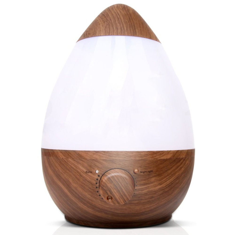 2.3L Wood Ultrasonic Humidifier for home Aroma Essential Oil diffuser Aromatherapy diffuser water drops egg-shaped humidifiers aroma oil diffuser ultrasonic humidifier remote control 10s 2h 4h timer 500ml tank lamp wood ultrasonic humidifiers for home