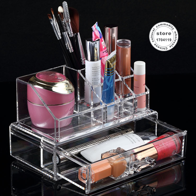 US $20 2  Selling gift dressing Cosmetic case Cosmetic box jewelry box  drawer Rack makeup organizer storage box chef basket-in Storage Boxes &  Bins