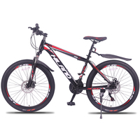 27 Speed Mountain Bike Bicycle 26 inch steel frame red and black aviliable MTB free shipping