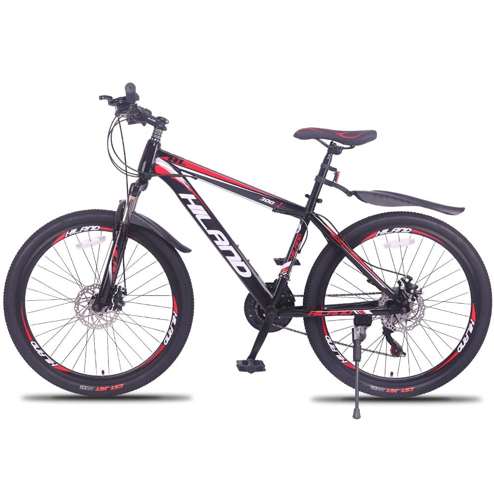 Vélo de VTT 27 vitesses 26 pouces cadre en acier rouge et noir vtt disponible livraison gratuite