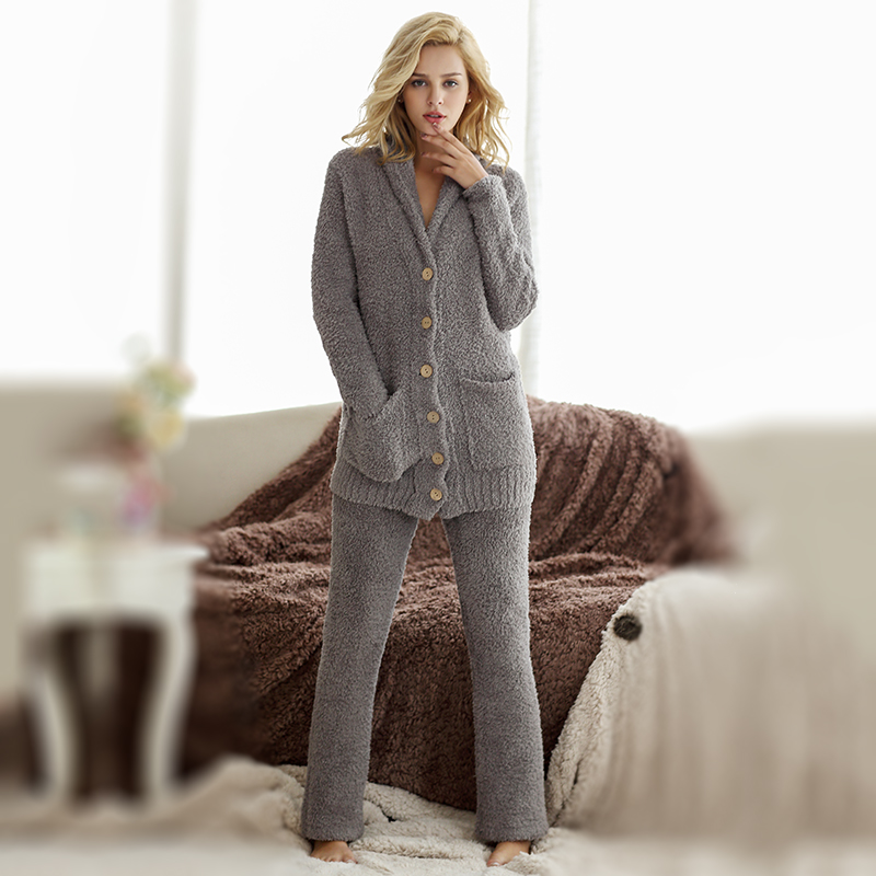 Fashion Brief Solid Color Strap Buckle Super Soft Microfiber  Women's Sleepwear Pajama PantsLlounge Twinset Casual Outerwear