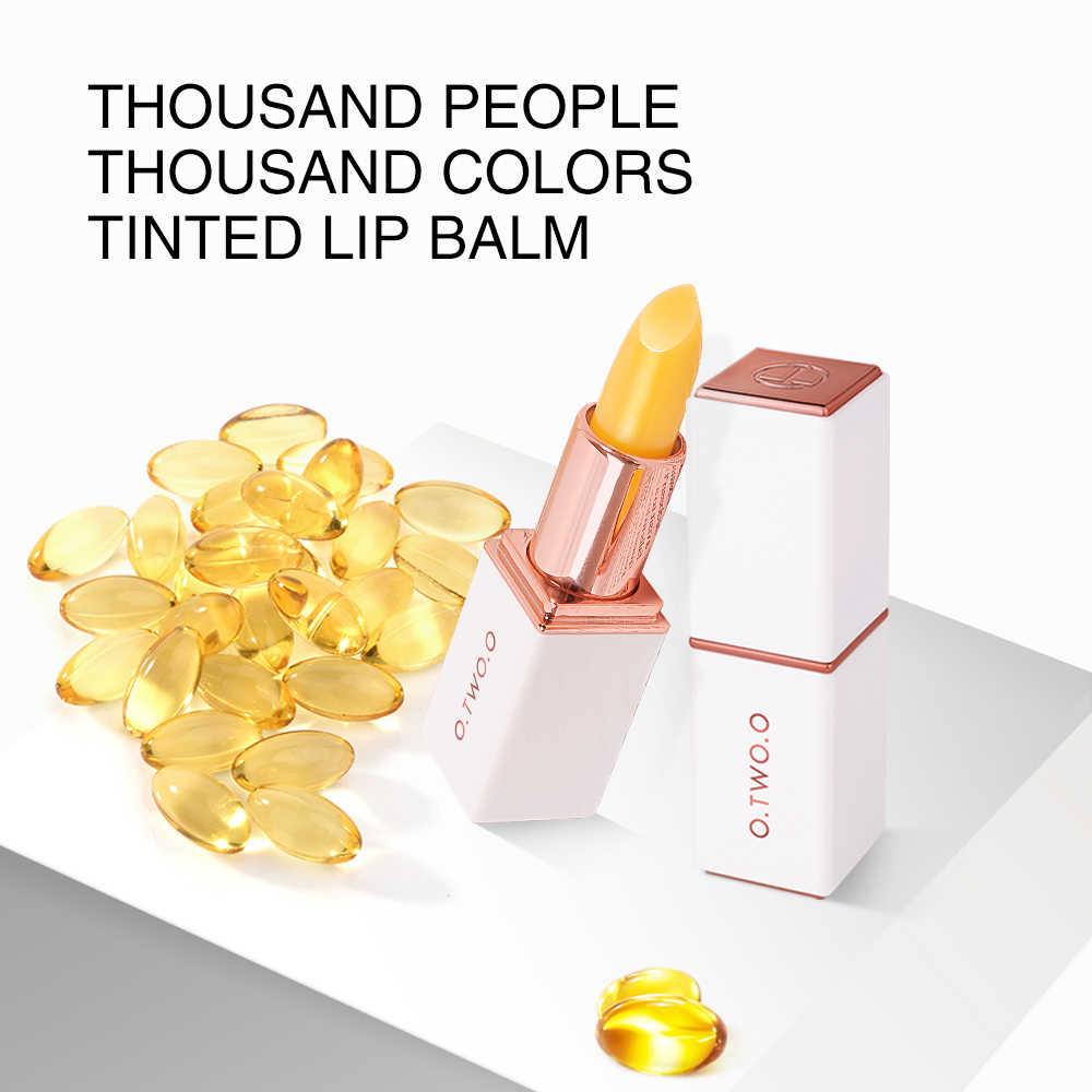 O. שני. O שפתון ממוזג שינוי שפתון לאורך זמן היגיינה לחות שפתון אנטי הזדקנות איפור ורוד שפתיים טיפול