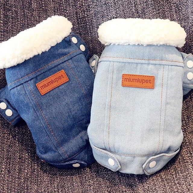 Cane Giacca invernale Cucciolo Vestiti Del Cane Pet Outfit Cane Denim Dei Jeans