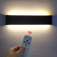LED Wall Sconce Smart 2.4G RF Remote Control Modern Dimmable Bedroom Side Wall Light Living room Staircase Lighting Decora Lamps