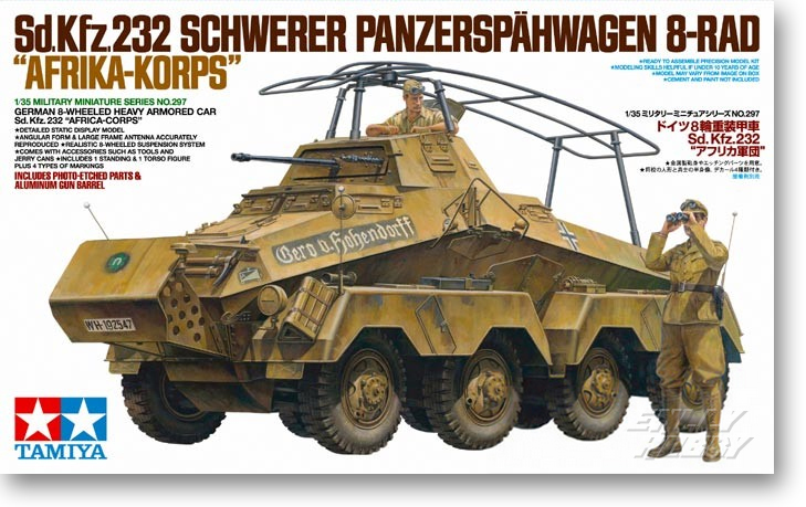 1/35 GERMAN 8-WHEELED HEAVY ARMORED CAR Sd.Kfz.232 AFRICA-CORPS 35297