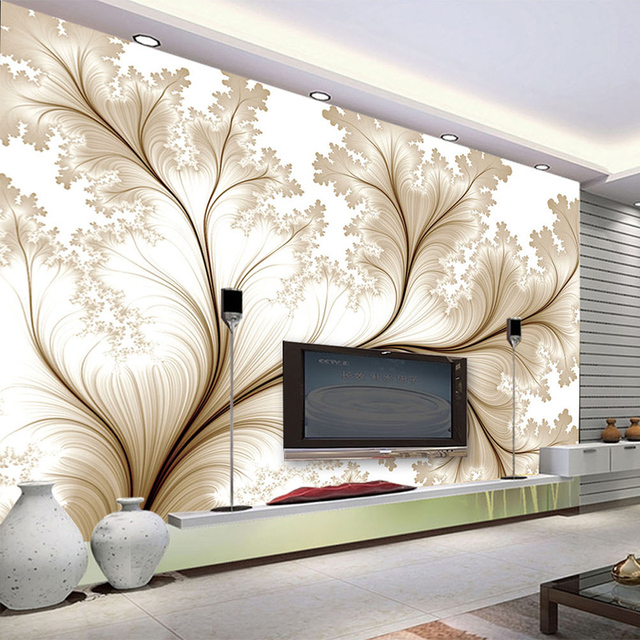 Us 9 66 46 Off Modern Abstract Flowers Mural Wallpaper Living Room Tv Sofa Bedroom Backdrop Wall Painting Art Wallpaper Papel De Parede 3d Sala In