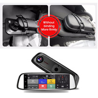NEW 8 WIFI Bluetooth 4G Rear Mirror Driving Recorder Touch GPS Car DVR Camera With Dual Lens For Android 5.1 Drop Shipping