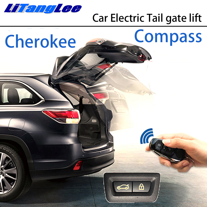 LiTangLee Car Electric Tail Gate Lift Trunk Rear Door Assist System For Jeep Cherokee KL Compass MP 522 2014~2019 Remote Control
