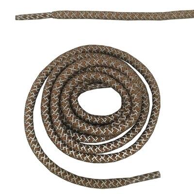 """Круглая веревка 3м Светоотражающие шнурки для ботинок бегуна видимые безопасные шнурки 14 цветов 4"""" /120 см - Цвет: brown"""
