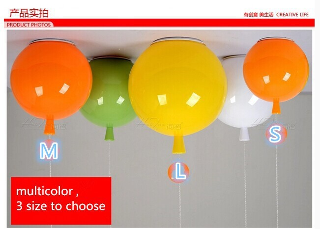Minimalist style Colorful balloon ceiling light children bedroom ceiling lamp acrylic creative dining room bedside ballon lamp scandinavian creative color balloon personalized acrylic modern minimalist ceiling lamp nursery children room bedroom light