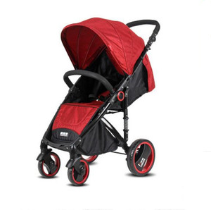 High landscape stroller can sit and lie with shock absorption high landscape one button folding portable stroller baby umbrella